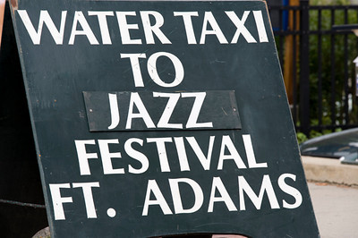 Water Taxi to Jazz or Folk Festival