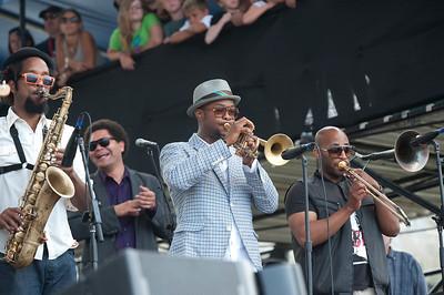 Kebbi Williams - Saxophone / Maurice Brown - Trumpet / Saunders Sermons - Trombone   http://www.mauricebrown.net/   http://saunderssermons.com/