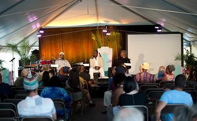 Randy Weston and Billy Harper interviewed by Charles Latimer  Greektown Casino-Hotel  Jazz Talk Tent