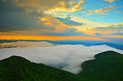 #10-SUNSET FROM ROAN MTN.