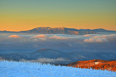 #02-BLACK MTNS./MT. MITCHELL SUNRISE FROM ROAN MTN.