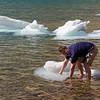 Thomas wrangling an iceberg at the namesake Iceberg Lake.