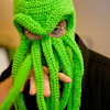 Knit cap Cthulhu, with extra finger-tentacles
