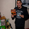 Jeff Burk shows his book, published by Bizzaro Books of Portland