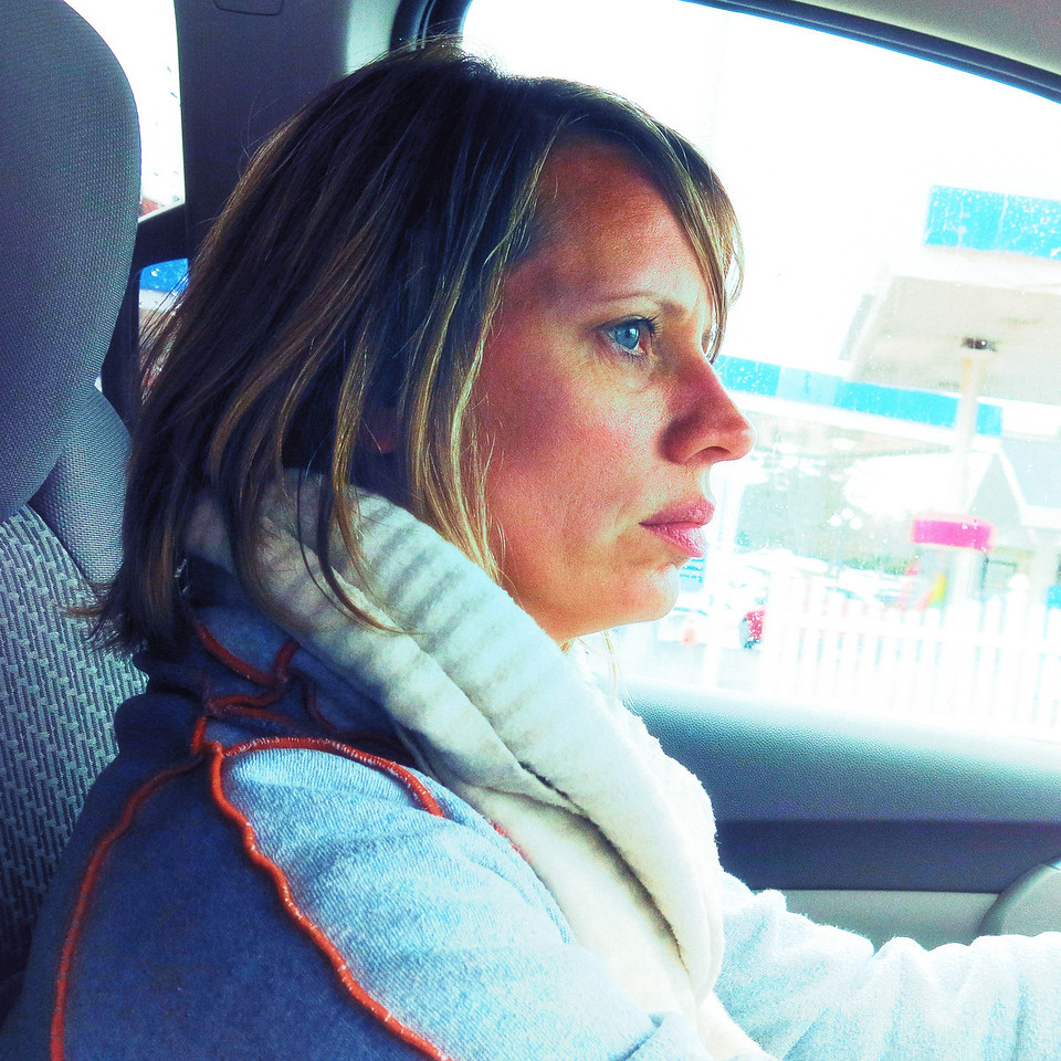 Photo by Haili. Mom driving on Eastcoast.