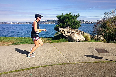 Closing in on the Orca half marathon finish line