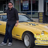 Director Colin Trevorrow with the car featured in Safety Not Guarenteed