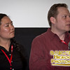 Filmmakers Jennifer Wai-Yin Luk, and Cole Drumb at the screening of their short, PostHuman