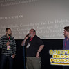 SIFF Artistic Director Carl Spence and Juan Marinez Moreno, director of Game of Werewolves with Scott Hamilton, director of the short Bad Moon Rising