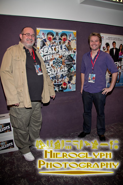 Juan Marinez Moreno, director of Game of Werewolves with Scott Hamilton, director of the short Bad Moon Rising