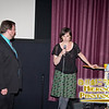 SIFF's Dustin Kasper with actor Alycia Delmore at the Q&A for Gayby