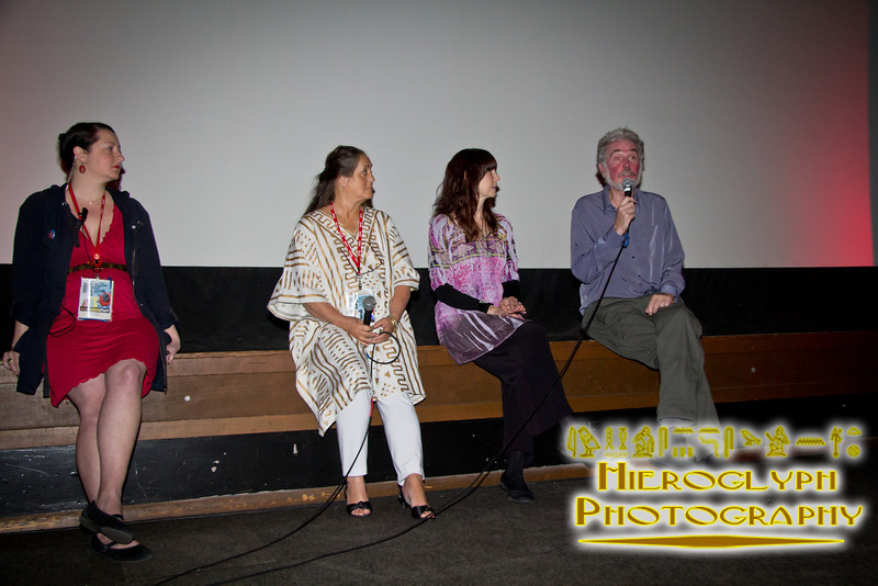Isis, Makushla, and Omne Aquarian at the screening of The Source