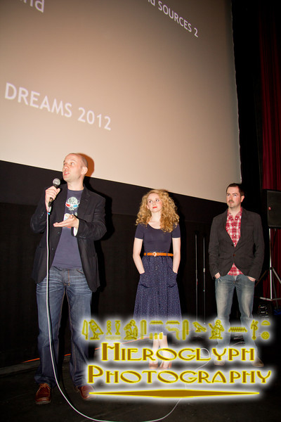 Director Alan Brennan, Actor Jenn Murray and Editor Barry Moen at the Q&A of Earthbound