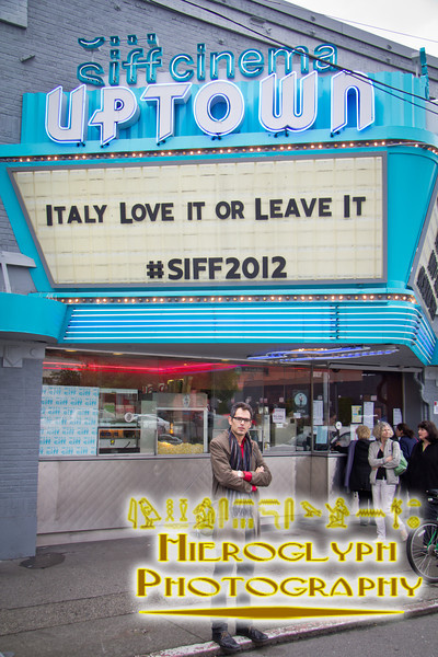 Director Luca Ragazzi at the screening of Italy Love It or Leave It