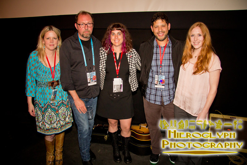 SIFF Uptown Venue Manager Hannah Levin, Director Dan Thornton, Producer Sarah Crowe, Director Nesib Shamah, and Editor Amy Enser at the screening of Welcome to Doe Bay