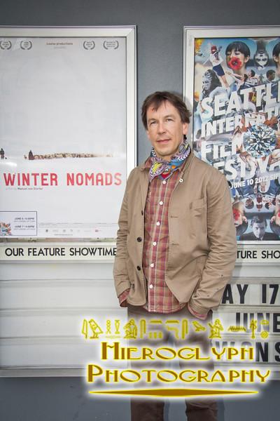 Director Manuel von Sturler at the screening of Winter Nomads