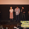 Director Ned Thorne (middle, in jeans) with cast and producer Anthony Moody at the world premiere of 419