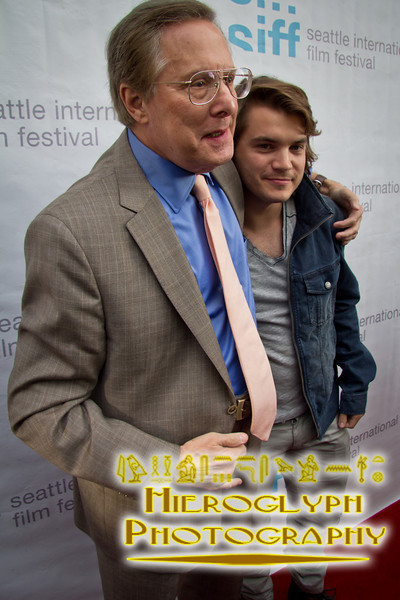 Director William Friedkin and actor Emile Hirsch on the red carpet for Killer Joe