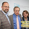 SIFF's artistic director Carl Spence with director William Friedkin and actor Emile Hirsch on the red carpet for Killer Joe