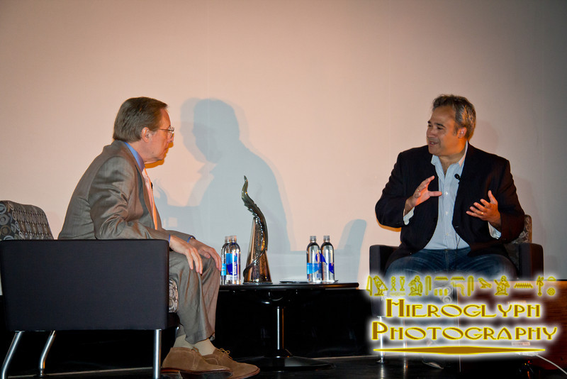 Director William Friedkin at the interview for his filmmaking tribute.