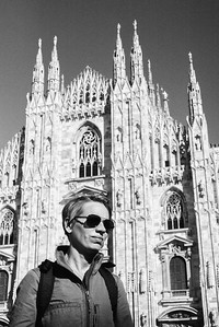 Posing in Milan