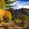 Fall colours run for Black Lake South trail.