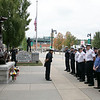 The Fitchburg Fire Department on North Street has a 911 memorial in front of the station that has a beam from the North Tower of the world Trade Center. It was dedicated on September 11, 2018. They held a ceremony in honor of those that lost their lives on that day in 2001 today. SENTINEL & ENTERPRISE/JOHN LOVE