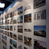 The wall of projects at FFKR Architects