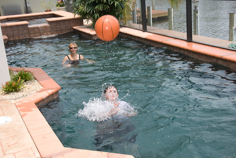 Ben and Betty Jo Basketball in Pool
