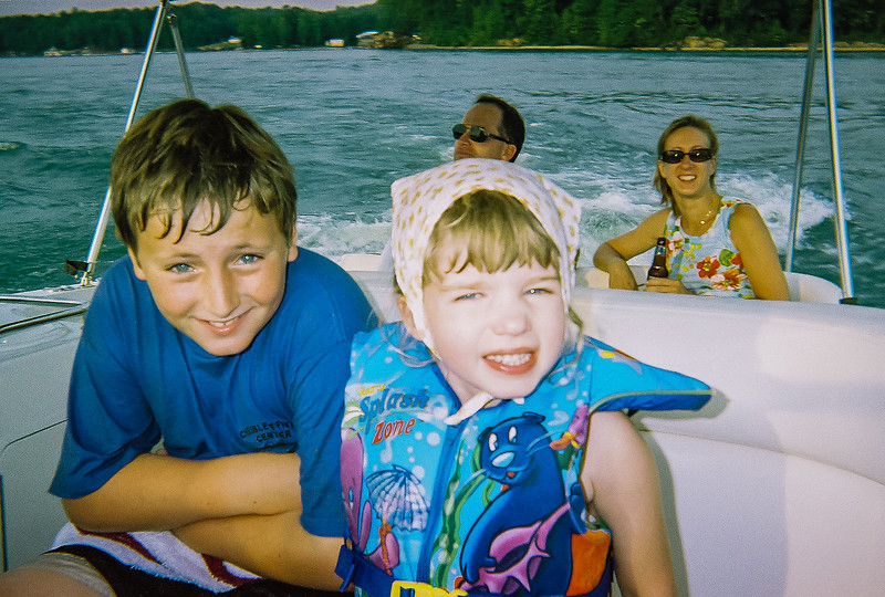 Ben and Boat-Neighbors circa 2001