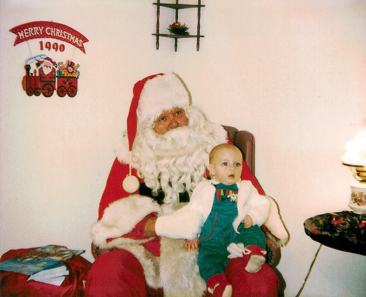 Ben First Santa Dec 1990