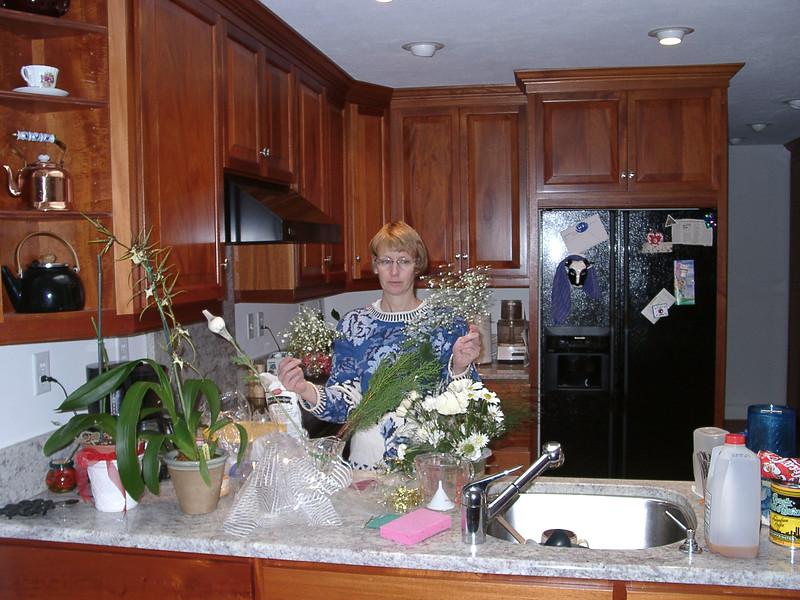 Betty Jo in Kitchen preparing for Valentine's Day