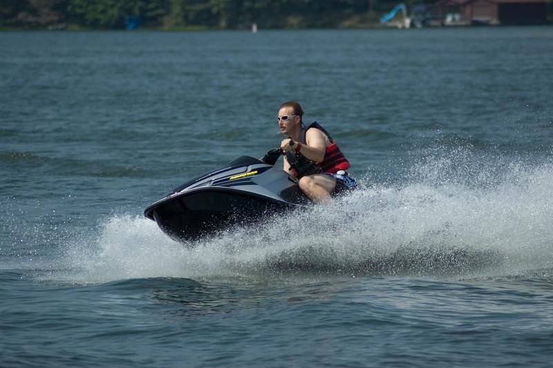 Tom Weakley on Jet Ski