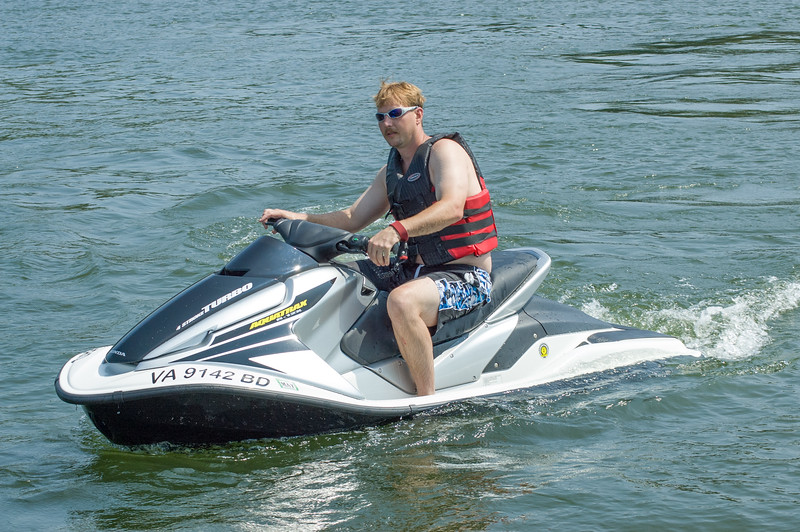 Tom Weakley on Jet Ski