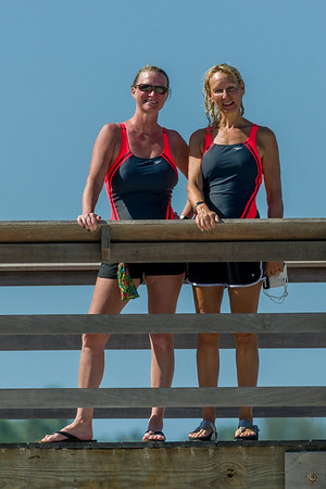 Betty Jo and Brandie Swim 2.4 miles