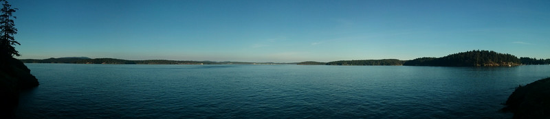 Panorama from a point near the Friday Harbor Labs facility.