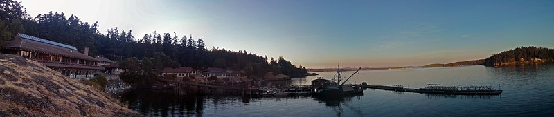 A panorama of the Friday Harbor Labs facility.