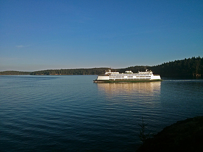 One of the Washington State ferries.