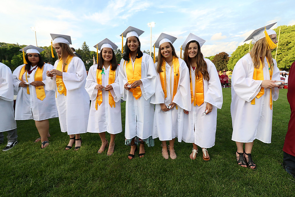 . Fitchburg High School held its 152 commencement exercises on June 1, 2018 at Crocker Field in Fitchburg. SENTINEL & ENTERPRISE/JOHN LOVE