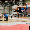 Leominster's Michael Foster competes in the high jump during the track meet at Fitchburg High on Saturday morning. SENTINEL & ENTERPRISE / Ashley Green