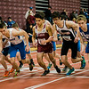 The boys one mile kicks off during the track meet at Fitchburg High on Saturday morning. SENTINEL & ENTERPRISE / Ashley Green