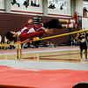 Fitchburg's Latrell Boddie competes in the high jump during the track meet at Fitchburg High on Saturday morning. SENTINEL & ENTERPRISE / Ashley Green