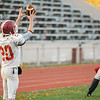 The Fitchburg High Red Raiders practice on Tuesday afternoon at Crocker Field. SENTINEL & ENTERPRISE / Ashley Green