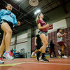 Members of Fitchburg High's indoor track practice at the school on Wednesday afternoon. SENTINEL & ENTERPRISE / Ashley Green