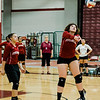 Fitchburg High's Marissa McInnis Ramos in action during the match against St. Bernard's on Tuesday, September 26 ,2017. SENTINEL & ENTERPRISE / Ashley Green