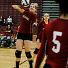 Fitchburg High's Audrey Johnson in action during the match against St. Bernard's on Tuesday, September 26 ,2017. SENTINEL & ENTERPRISE / Ashley Green