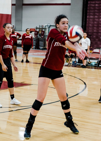 Fitchburg High's Caitie Mayo in action during the match against St. Bernard's on Tuesday, September 26 ,2017. SENTINEL & ENTERPRISE / Ashley Green