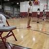 The Fitchburg High School Girls basketball team honored former player Paula Goodchild Gastonguay, 1990, before Monday nights game. SENTINEL & ENTERPRISE/JOHN LOVE