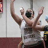 The Fitchburg High School girls basketball team played Quabbin Regional on Monday night. FHS's #25 Jen Allen puts up a shot during action in the game. SENTINEL & ENTERPRISE/JOHN LOVE