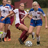 Fitchburg  High School girls soccer played West Boylston High School on Wednesday afternoon, Oct. 2, 2019 in Fitchburg. FHS's #10 Elle Scott and WBHS's Emma Nett. SENTINEL & ENTERPRISE/JOHN LOVE